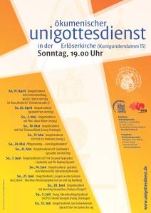 Unigottesdienste im Sommer 2015